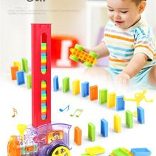 Rocket-Toys Domino-Brick Building-Blocks Train Gift Children for Colorful Z22 Laying
