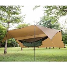 OneTigris 210T البوليستر الشمس المأوى 3x4m المدمجة تنوعا دائم الظهر القماش المشمع خيمة الشاطئ المظلة 100% مقاوم للماء