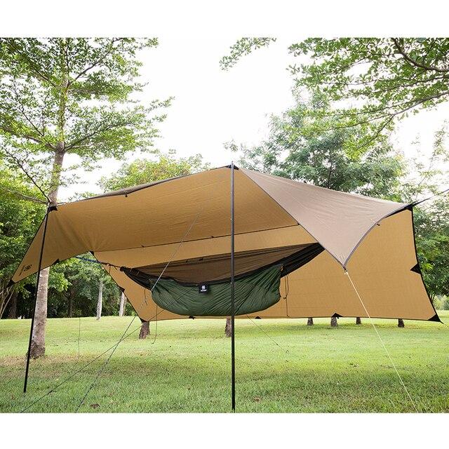 OneTigris 210T פוליאסטר מקלט שמש 3x4m קומפקטי תכליתי עמיד תרמילאים ברזנט חוף אוהל סוכך 100% עמיד למים