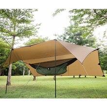 OneTigris 210T Polyester güneş barınağı 3x4m kompakt çok yönlü dayanıklı sırt çantası branda plaj çadır tente % 100% su geçirmez