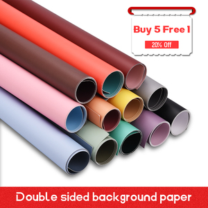 'Buy 5 Free 1'57*87cm Solid Color Double-sided Photography Board Backdrop Waterproof Background Paper Decorations Items for Food