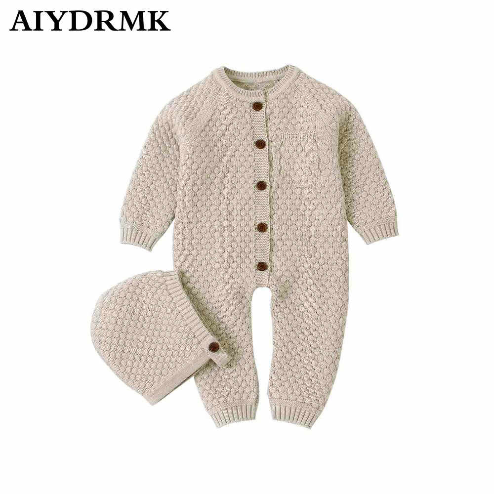 Baby Girl Clothes Knitted Baby Clothes Newborn Baby Romper with Hat Toddler Romper Overalls Infant Baby Jumpsuit for Boy Girl