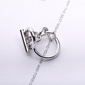 Image 5 - Moonmory 925 Sterling Silber Seil Kette Ring Mit Hoop Lock Für Frauen Französisch Beliebte Verschluss Ring Sterling Silber Schmuck Machen