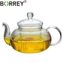 BORREY термостойкий стеклянный чайник с двойными стенками Стеклянная чайная чашка прозрачный чайник для заваривания чая Infuser Qolong чайный чайник с разными вкусами