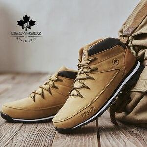 Image 2 - Men Basic Boots Shoes Men 2020 Autumn Winter Fashion Casual Boots Men Brand Ankle Botas New leather Classic Lace up Men Boots