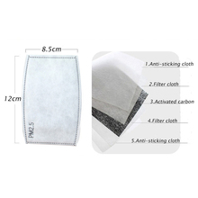 50Pcs/Lot PM2.5 Filter Paper 5 Layers Activated Carbon Filter Activated Carbon Mask Filter Bacteria Proof N95 Mask Filtration