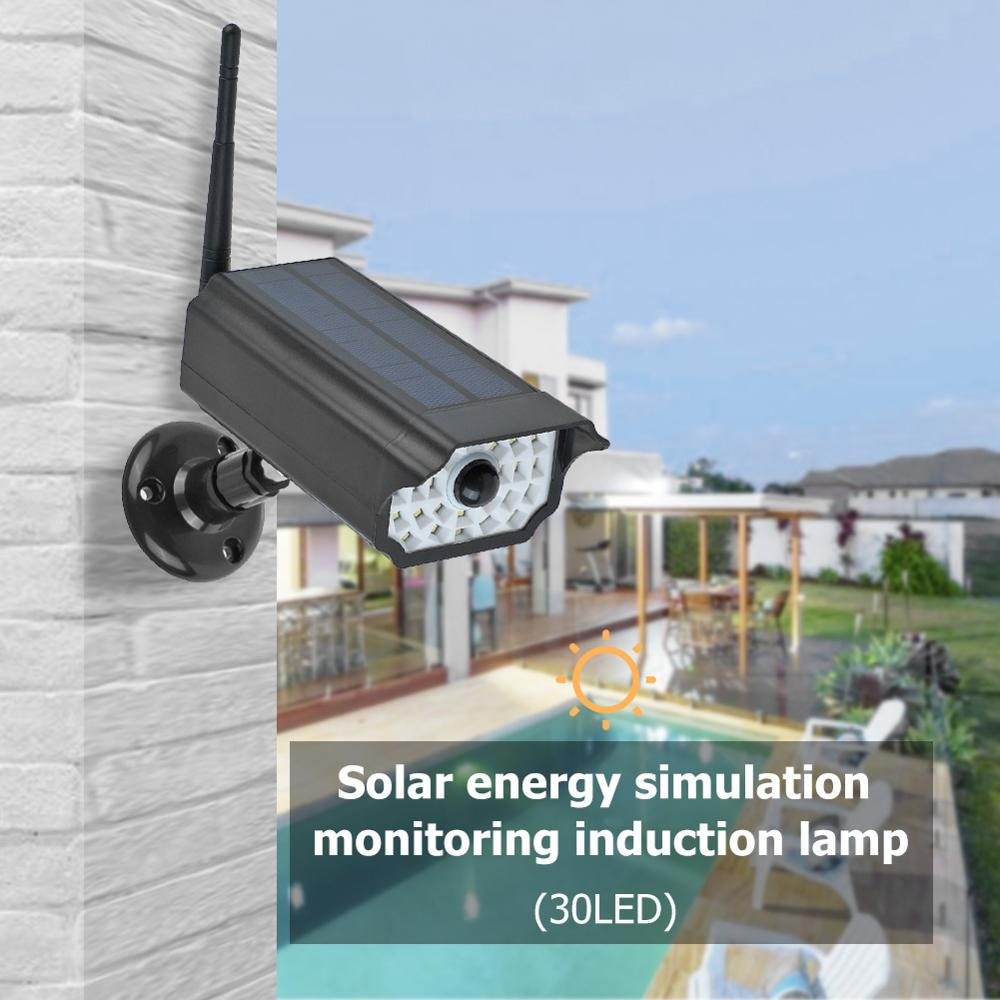 Solar Power Dummy Camera Security Light Monitoring Anti-Theft Home Induction Lamp Suitable For Patio Garage Door Villa Wall Lamp