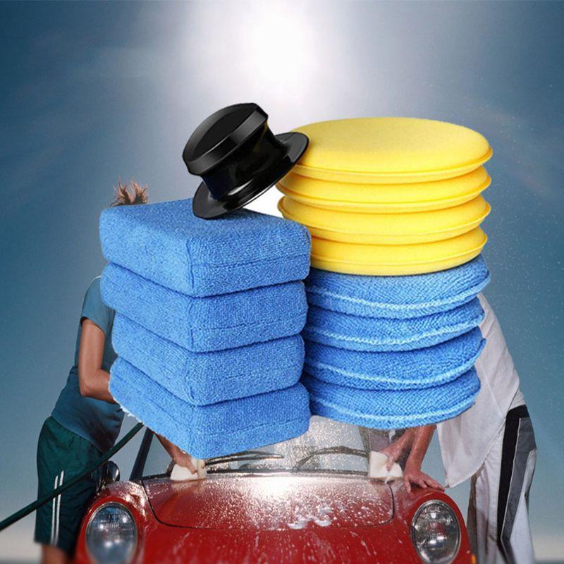 13 pcs esponja de espuma de cera polones carro conjunto zero livre aplicador almofadas para automovel