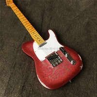 Stock New products, old electric guitar, amoeba watermark, ox bone string pillow, free shipping