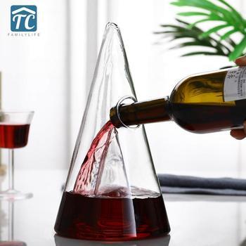 Dozownik wina z winogron piramida szkło kryształowe karafka do wina filtr wodospad Brandy whisky szampan czerwona butelka dzbanek do wlewu Aerator