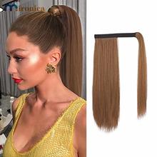 MIRONICA Hairpiece Wrap on Clip włosy w koński ogon rozszerzenia ludzkie włosy z klipsem w prosto Ombre blond kolorowe włosy typu Remy koński ogon tanie tanio Proste Remy włosy 100 g sztuka CN (pochodzenie) Ciemniejszy kolor tylko 1 sztuka tylko Brazylijski włosy Straight Fast Shipping within 24 Hours Received Within 3-7 Working days
