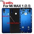 Задняя крышка аккумулятора для Xiaomi Mi MAX 3  задняя крышка корпуса MAX3  средняя рама для Xiaomi Mi Max 2  крышка аккумулятора и объектив