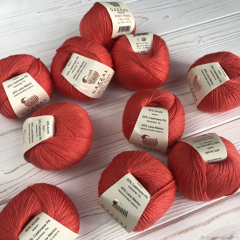 GAZZAL Baby wool 50 гр. 170 м (40% шерсть мериноса, 20% кашемир ПА, 40% акрил)| |   | АлиЭкспресс