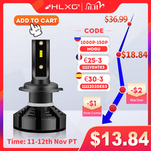 HLXG H7 Led H4 자동차 헤드 라이트 전구 H1 LED H11 H8 HB3 9005 HB4 9006 안개 램프 6500K 4300K 5000K 12V 20000LM ZES 자동 Nebbia