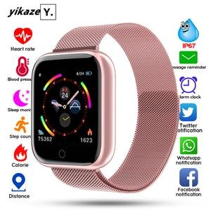 I5 Новые водонепроницаемые Смарт-часы для женщин Bluetooth Smartwatch для Apple IPhone Xiaomi монитор сердечного ритма фитнес-трекер PK P70 P68