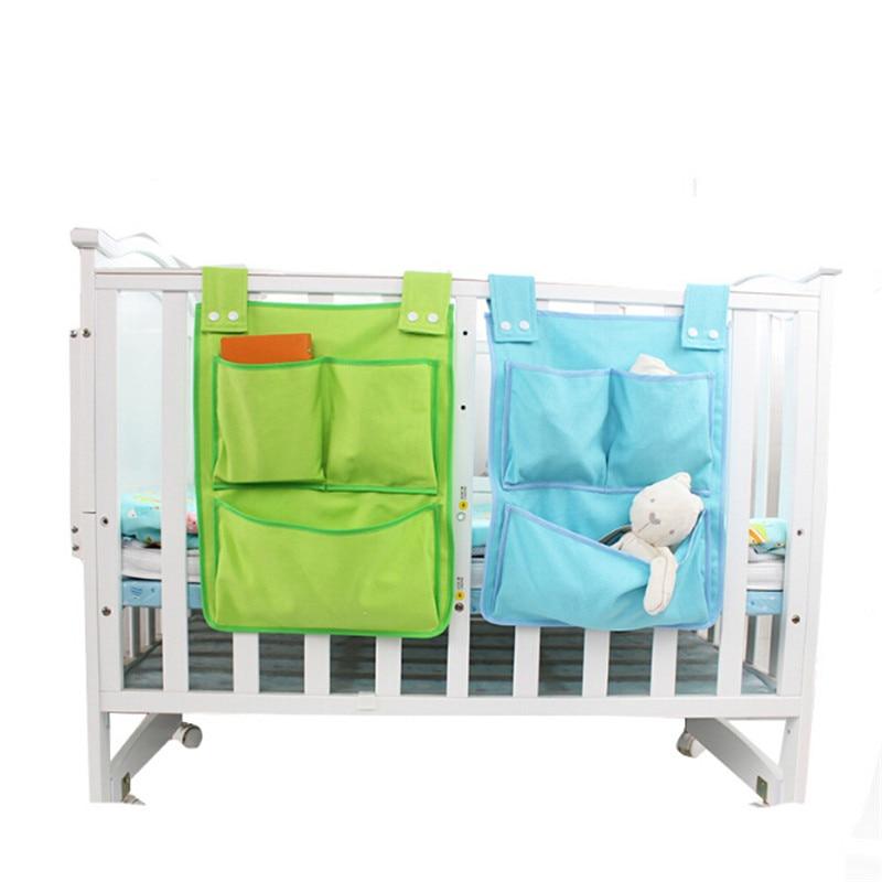 Rooms Nursery Hanging Storage Bag Diaper Pocket For Newborn Crib Bedding Set Baby Cot Bed Crib Organizer Toy Bag 45*35cm