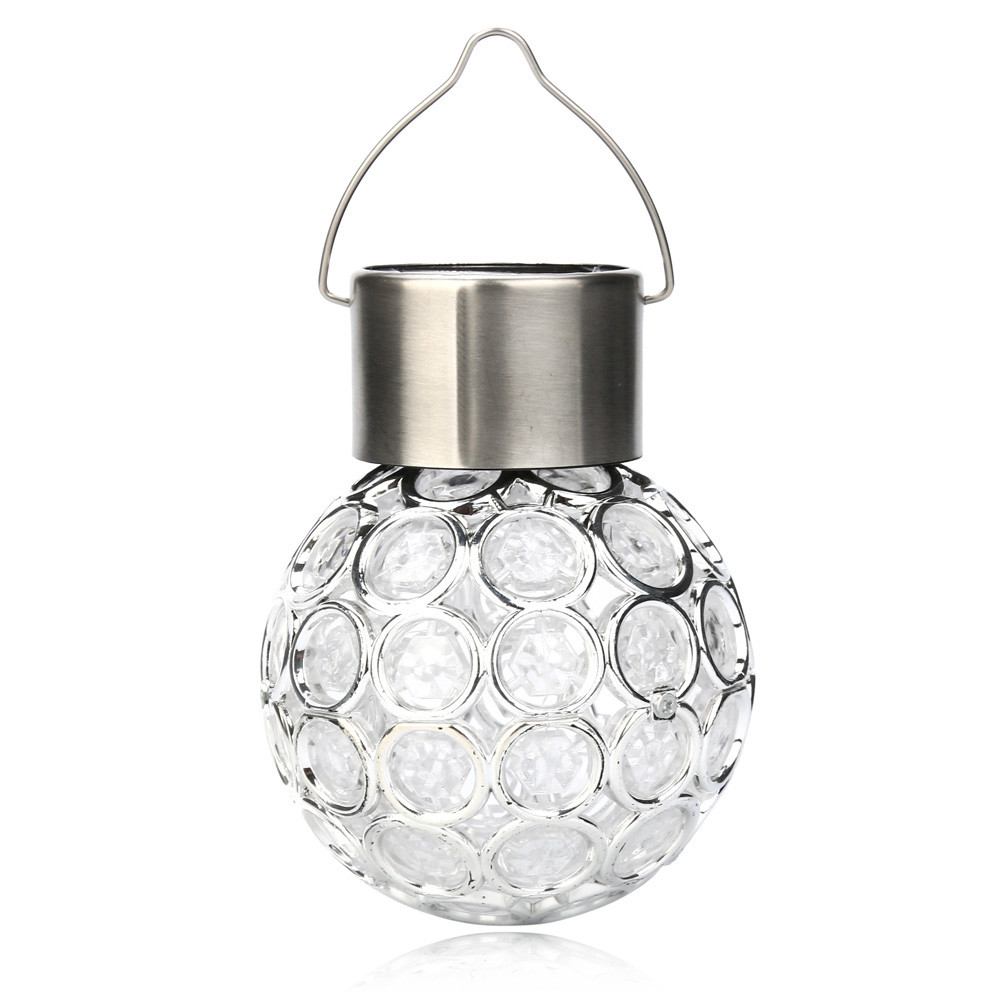 Solar Hanging Night Light Waterproof Solar Changing Colour Rotatable Decorative Outdoor Solar Led Grow Garden Round Ball Lights