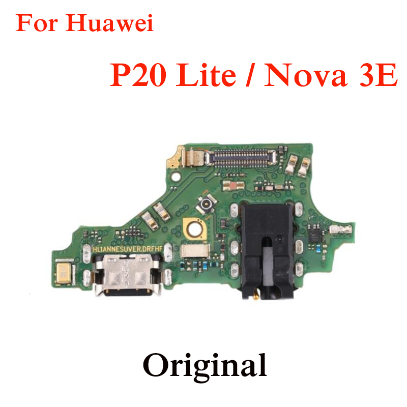 Original USB Board For Huawei P20 Lite  USB Charging Port Board Flex Cable Connector Parts With Microphone Module