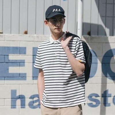Men's Tide Brand Loose Tide Men's Short-sleeved T-shirt Lapel Couples Wear Japanese T-shirts  7535