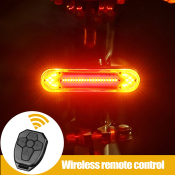 MTB Road Cycling Tail Light Remote Control Bike Rear Light LED Lamp USB Rechargeable Brake Warning Taillight Bicycle Accessories bikein road bike led front light taillight usb rechargeable light cycling mountain bike handlebar mtb bicycle accessories