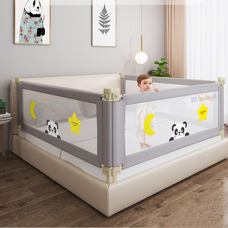 Adjustable Baby Bed Fence Safety Playpen Kids Vertical Lift Crib Rails Infants Safety Gate Crib Barrier Children Guardrail