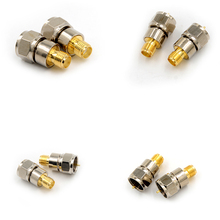 цена на 1PCS F Type Male Plug To SMA Female Jack Straight RF Coaxial Adapter Connector F Male To SMA Female Jack Adapter