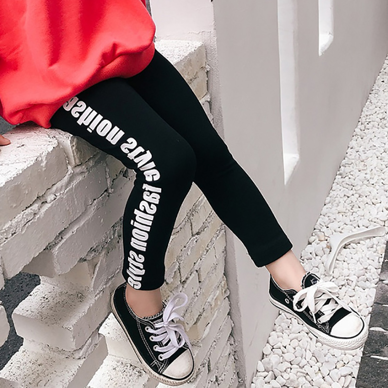 Letter Kids Girl Pants Fashion Sports Leggings For Girls Children Pencil Pants Kids Leggings Pants Kids Sport Trousers