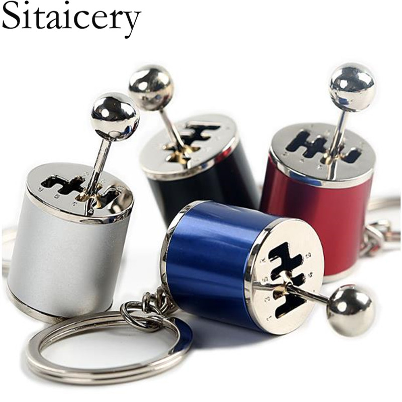 Sitaicery New Trinket Speed Removable Transmission Gearshift Metal Gear Shift Unisex Car Keychain Gearbox Key Ring Accessories