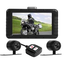 Мотоцикл dvr Dash Cam FHD 1080P+ 720P двойной объектив Водонепроницаемая Экшн-камера