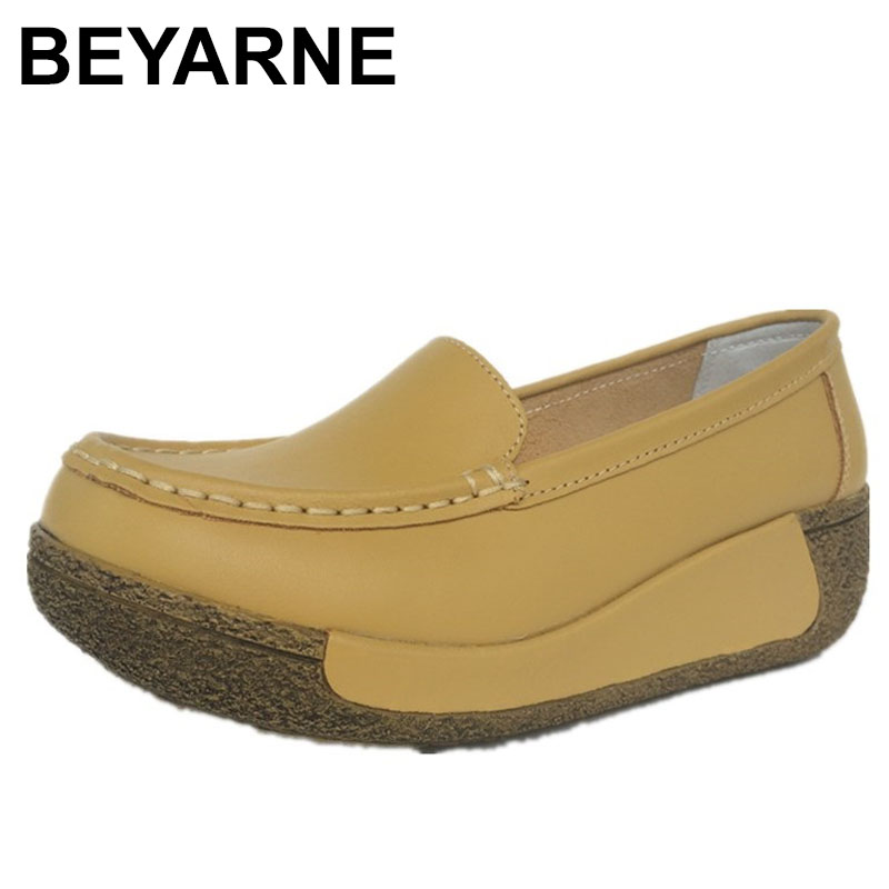 BEYARNE/дышащая обувь для танцев из искусственной кожи; женская обувь на плоской платформе; Мягкая Белая обувь для медсестры; женские весенние ...