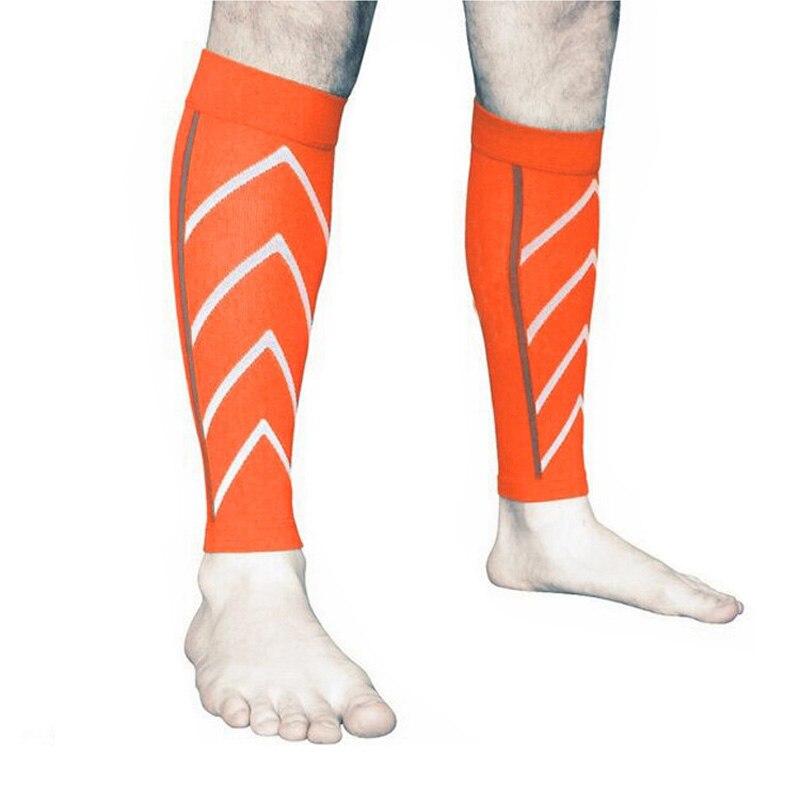 1 par de bezerro apoio graduado compressão perna manga meias exercício ao ar livre esportes segurança joelho suporte proteção joelho cinta