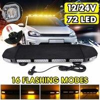 12V 24V LED Bar Car Strobe Light Bar Work Light Truck Beacon Warning Flash Lamp Roof Magnet Waterproof 16 Modes