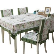 Tablecloth Table Cloth yi tao bu yi fang Wallpapers Set Pastoral Style Cotton Tablecloth yi zi zhao