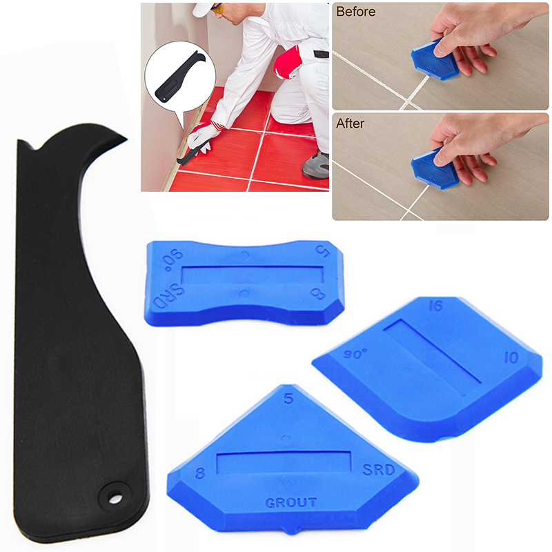 4pcs Silicone Sealant Spreader Spatula Scraper For Door Caulk Tool Kit Window Door Silicone Cement Caulk Caulking Sealant Grout