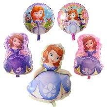 1pc grande dos desenhos animados princesa sofia folha balões festa de aniversário decoração de casamento balão de hélio sophia menina feliz aniversário presente