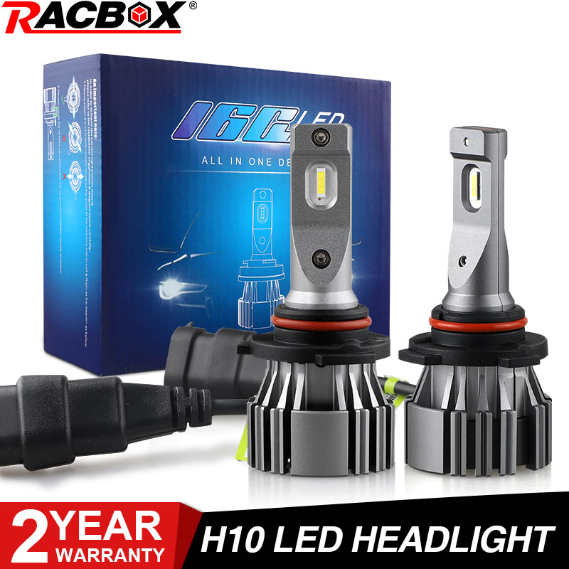 LED Headlight H10 Mini Led Car Bulb 80W 6500K White Light Auto LED Lamps 12V CSP Fog Lights Auto Headlamp Copper Pipe Cooling image