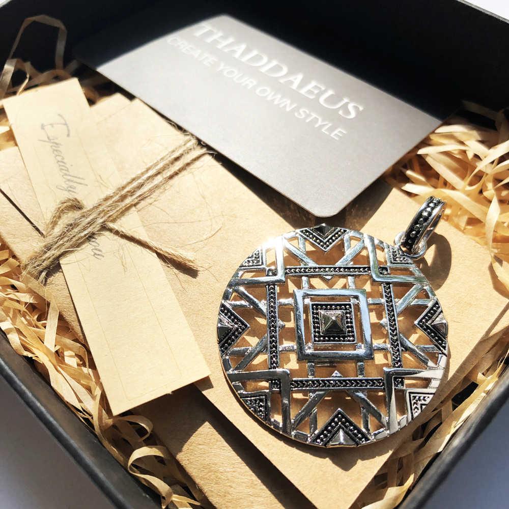 Hanger Afrika Ornamenten, 925 Sterling Zilver Glam Sieraden Thomas Stijl Bijoux Ketting Accessoires Gift Voor Ts Soul Vrouw Mannen