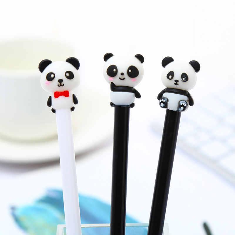 Baru Cute Kawaii Panda Gel Pena Putri Duyung Mewah Kucing Hitam Kawai Hewan Stationery Sekolah Kantor Pasokan Kit Aksesori Hadiah Kit