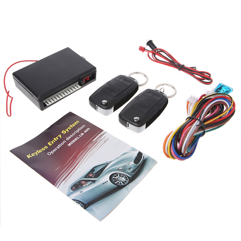 New Arrive Car Alarm Systems 12V Auto Remote Central Kit Door Lock Locking Vehicle Keyless Entry System With Remote Controllers Burglar Alarm Automobiles & Motorcycles - title=