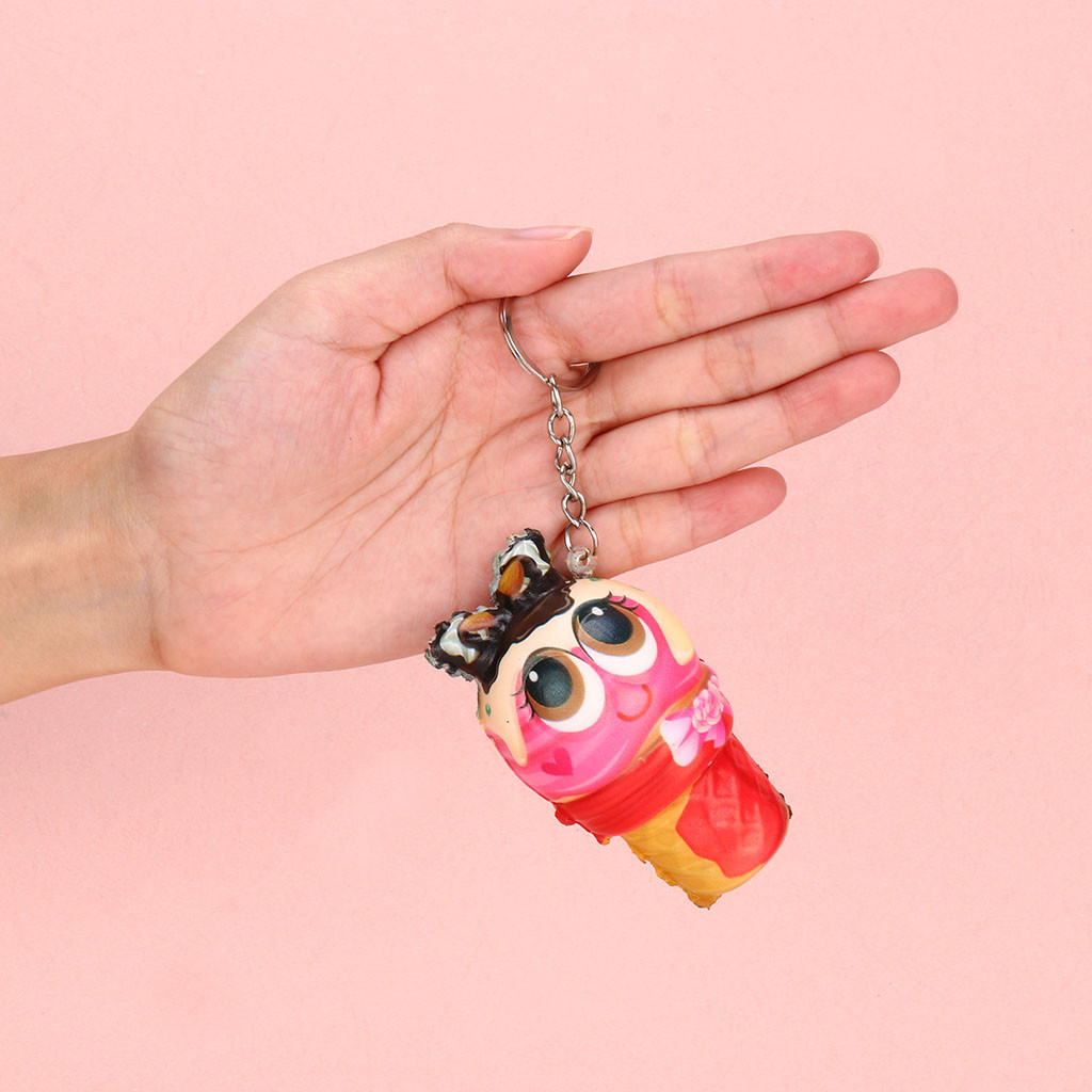 Squishy Slow Rising Toy Doll Squeeze Toys Squishy  Ice Cream Pendant Slow Rising Collection Stress Reliever W725
