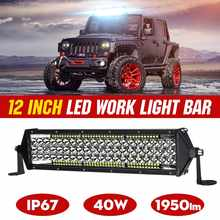 "11 ""12"" 22 ""auto LED Bar Werken Light Bar Wit IP67 voor Jeep Pickup Tractor Boot OffRoad off Road 4WD 4x4 Truck SUV ATV Rijden(China)"