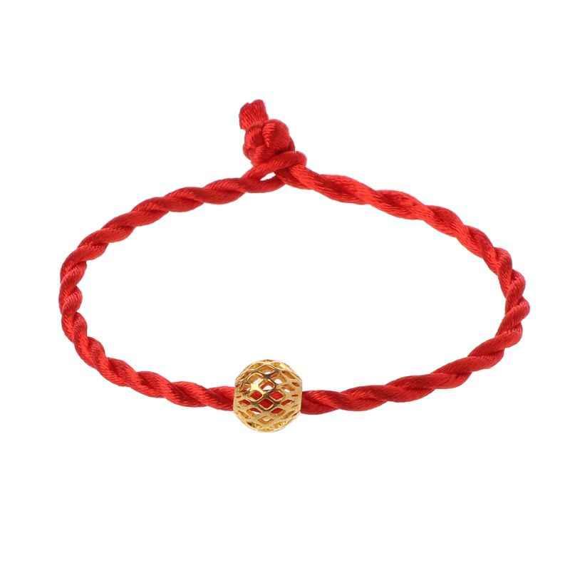 Czerwony sznurek linowy bransoletki Lucky Bead tybetańska biżuteria buddyjska