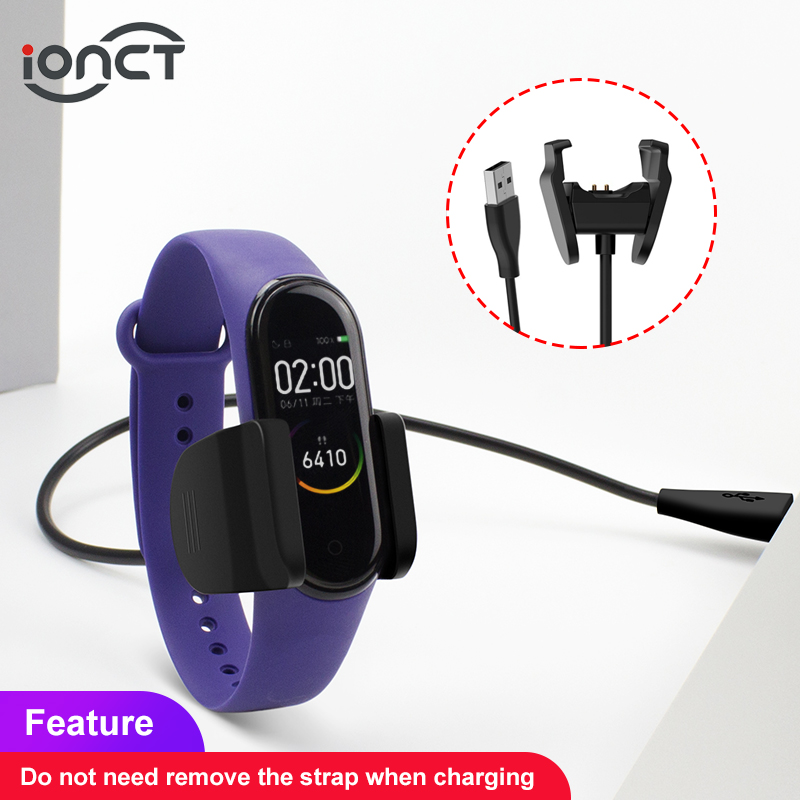 IONCT 1M USB Charger Cable For Xiaomi Mi Band 4 Charger Disassembly-free Adapter Charging Accessories MiBand 4 NFC Cable Charge