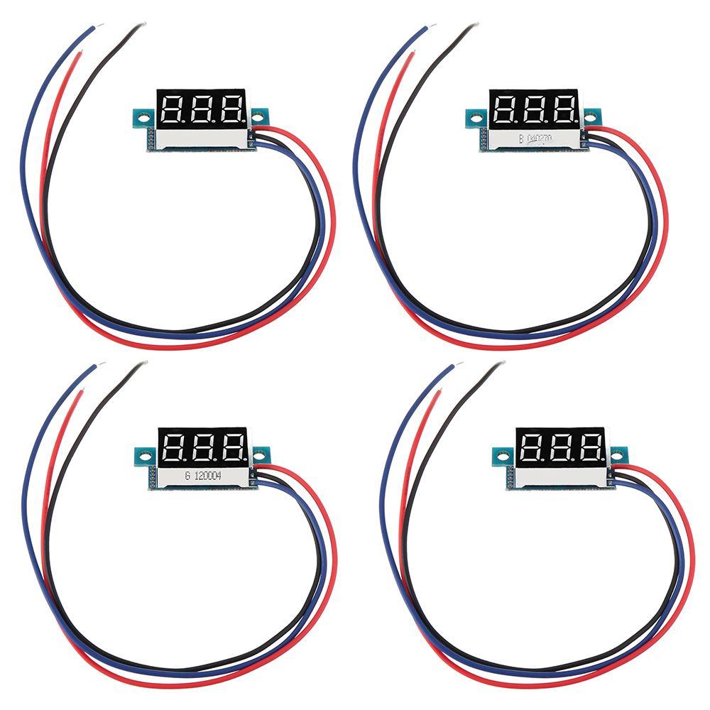 DC 0-200V 0.36 Inch Mini Digital Volt Meter Voltage Tester  3 Wire Digital Volt Indicator Car Voltmeter