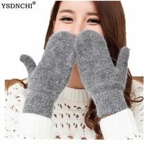 YSDNCHI Hot Sale Fashion Women Girl Winter Gloves Pure Color