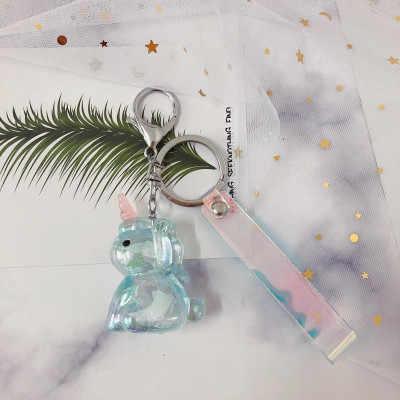 Transparent Cartoon Keychain Einhorn Anhänger Dekoration Spielzeug Einzigartige Bunte Kreative Geschenke Spielzeug Kleine Plüsch Geburtstag Präsentieren