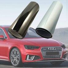 2019 PU folia ochronna do reflektorów światła tylne dym światła przeciwmgielne Film światła samochodowe reflektor wkład do aparatu naklejki samochodowe dark lamp