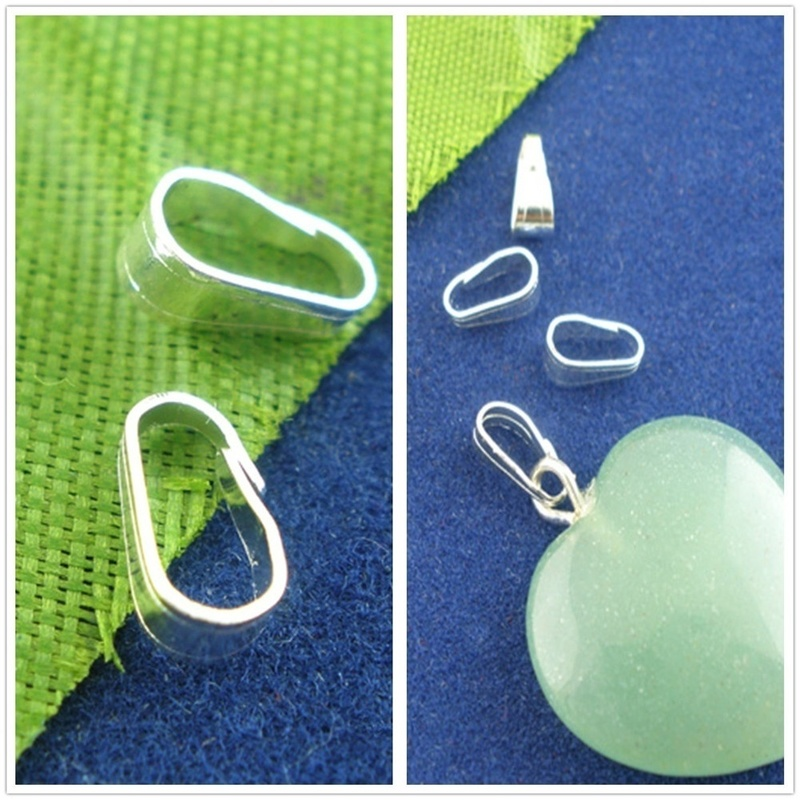 100Pcs Metal Snap Clip Pinch Bails For Pendant Jewelry Making Clasps Connector Findings DIY Necklace