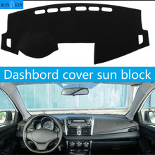 Dashboard Cover Sun Shade Non-slip Dash Mat Pad Carpet Car Stickers Interior Accessories For Toyota vios 2014 2015 2016 2017 car dashboard cover for toyota noah voxy 2014 2019 right hand drive auto sun shade dash mat dash pad carpet anti uv non slip 1pc