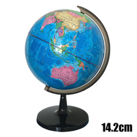 14.2cm PVC World Earth Globe Map Geography Educational Toy With Stand Home Office Gift office gadgets Plastic Teaching globe